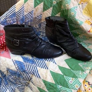 Size 7.5 Kim Rogers Ankle Boots with side zipper